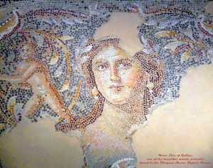 """The so-called :Mona Lisa of the Galilee"""" can be seen in the remains of a mansion situated on the highest hill in ancient Tzipori."""